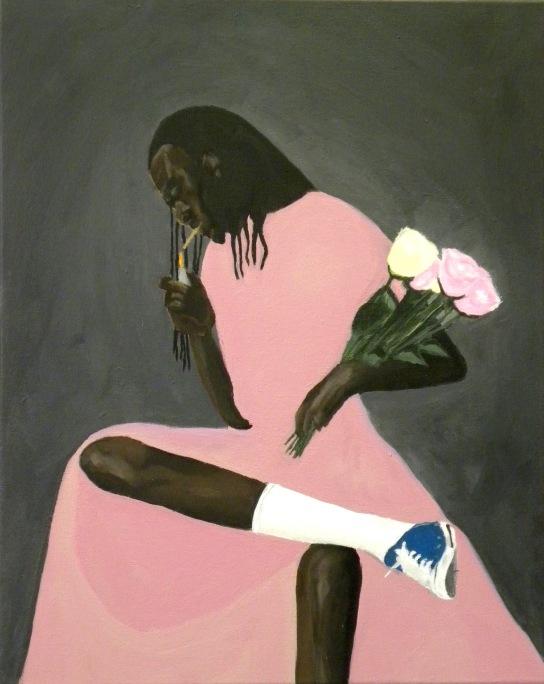 Pinkdress(canvas)